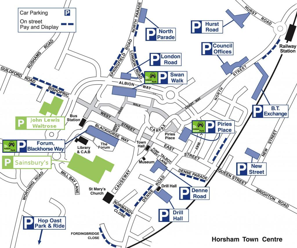 horsham car parks. Black Bedroom Furniture Sets. Home Design Ideas
